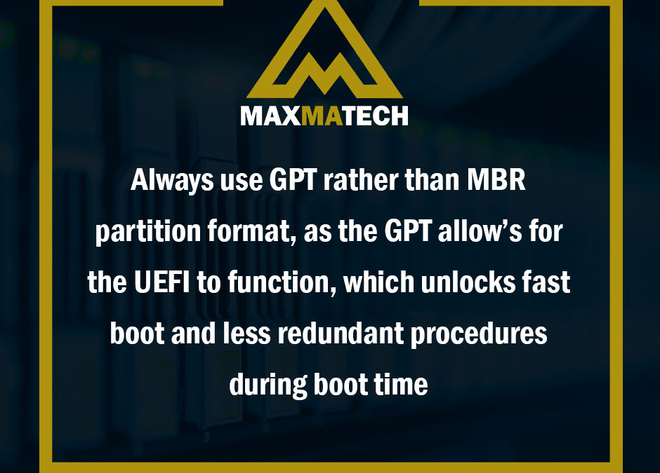 Difference between GPT and MBR